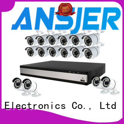 Ansjer cctv high quality 8 camera 1080p security system alert for surveillance