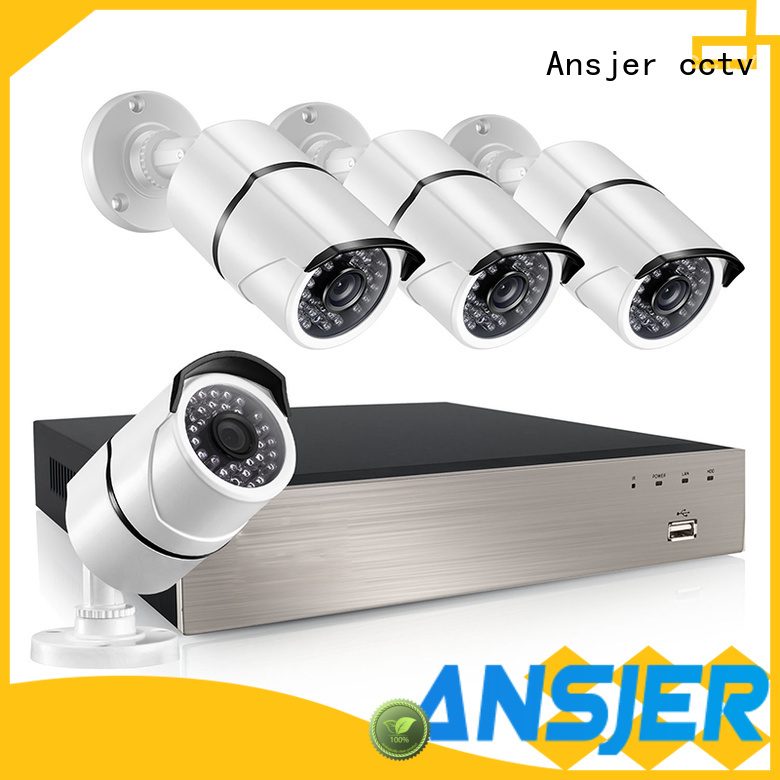 Ansjer cctv high quality nvr poe 8ch internet for office