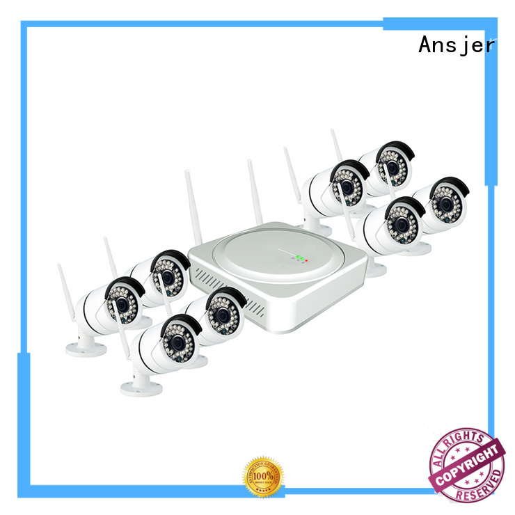 durable remote operation channel 1080p hd wireless security camera system indoor Ansjer