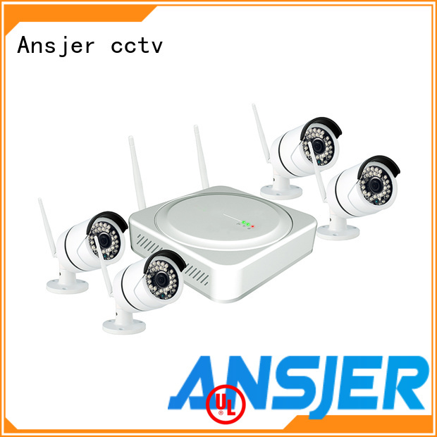 Ansjer cctv electric best wireless security camera system supplier for home