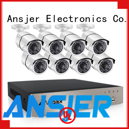 Ansjer cctv night poe ip camera 1080p wholesale for home