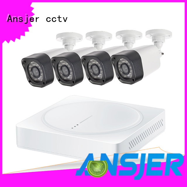 Ansjer cctv electric 720p surveillance camera system with night vision for indoors or outdoors