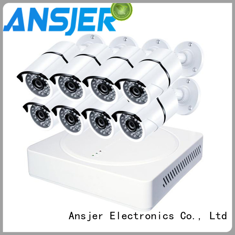 Ansjer 2K Ultra HD H.265 Home Security Camera System, 8 Channel DVR Recorder with 8 HD 5.0MP Outdoor/Indoor Surveillance Cameras IP66, 100FT Night Vision, Internet & Smartphone Viewing, Motion Email Alert