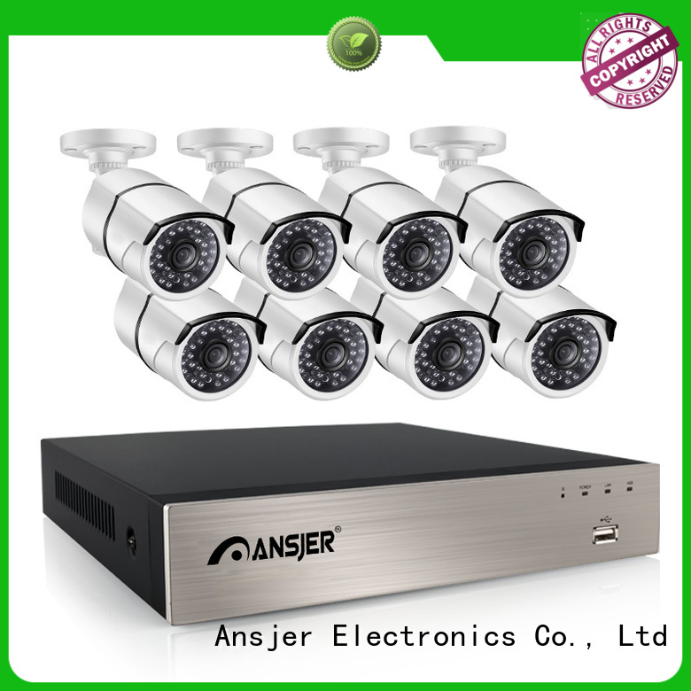 Ansjer cctv 1080p poe security system manufacturer for office