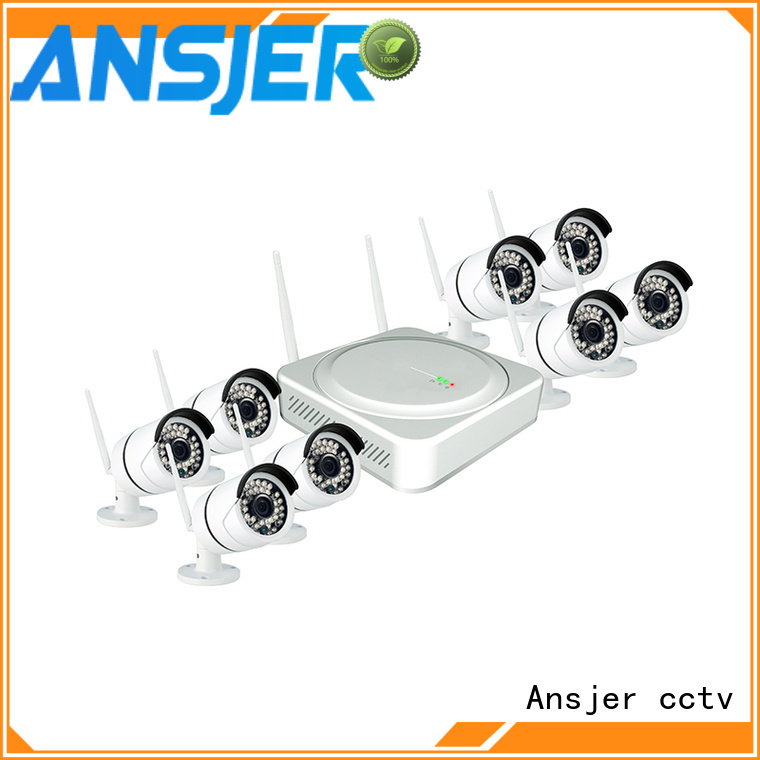 Ansjer cctv security wireless cctv system series for indoors or outdoors